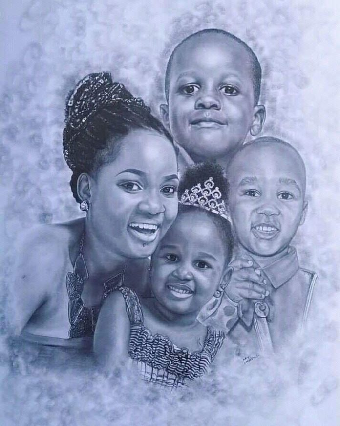 Zahara Toto with her 3 kids